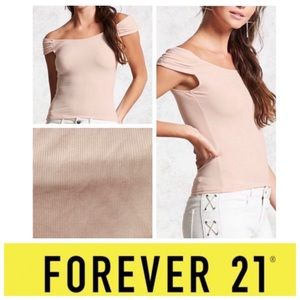 ❗️NEW ❗️ Forever 21 pink ribbed top S